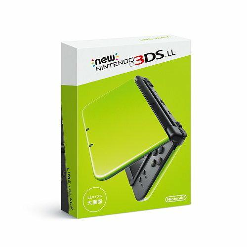 【即納★新品】Newニンテンドー3DS LL本体 ライム×ブラック(RED-S-MAAA)【数量限定3DSカード収納ケースプレゼント!】