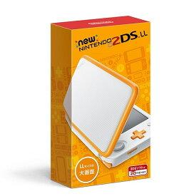 【ソフト7本+おまけ・即納・新品】2DS Newニンテンドー2DS LL ホワイト×オレンジ+ ソフト7本 + 他機種用アクセサリー