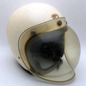 純正シールド付 水貼り Wストラップ BELL 500-TX WHITE 57cm スモールジェットヘルメットオープンフェイスアメリカンベルホワイト白色S〜Mサイズ