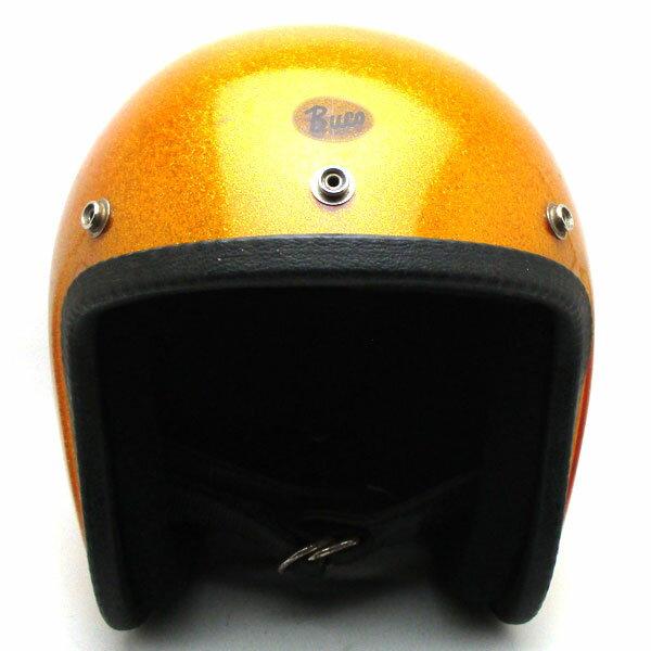 【在庫有 即納】【送料無料】BUCO INTERNATIONAL METALFLAKE GOLD 59cm スモールジェットヘルメットオープンフェイスアメリカンブコインターナショナルゴールド金色ラメメタルフレークM〜Lサイズ