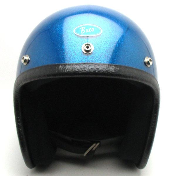 【在庫有 即納】【送料無料】BUCO ENDURO METALFLAKE BLUE 57cm スモールジェットヘルメットオープンフェイスアメリカンブコエンデューロブルー青色ラメメタルフレークS〜Mサイズ