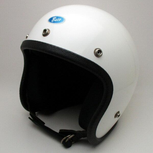 【在庫有 即納】【送料無料】BUCO ENDURO WHITE 59cm スモールジェットヘルメットオープンフェイスアメリカンブコエンデューロホワイト白色M〜Lサイズ