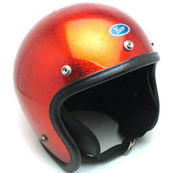 【在庫有 即納】【送料無料】BUCO METALFLAKE ORANGE 59cm スモールジェットヘルメットオープンフェイスアメリカンブコオレンジ橙色ラメメタルフレークM〜Lサイズ