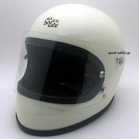 McHAL MACH 02 APOLLO Full Face Helmet (マックホールマッハアポロフルフェイスヘルメット)IVORY アイボリーwhite白オンロードフルフェイスレーシングocean beatleオーシャンビートルptr500txshortymtxftrlacbuco racerブコレーサー