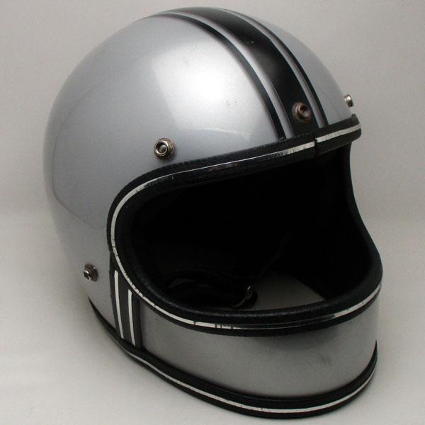 【在庫有 即納】【送料無料】FULLFACE METALLIC SILVER 57cm フルフェイスヘルメット族ヘルオンロードシルバー銀色メタリックS〜Mサイズ