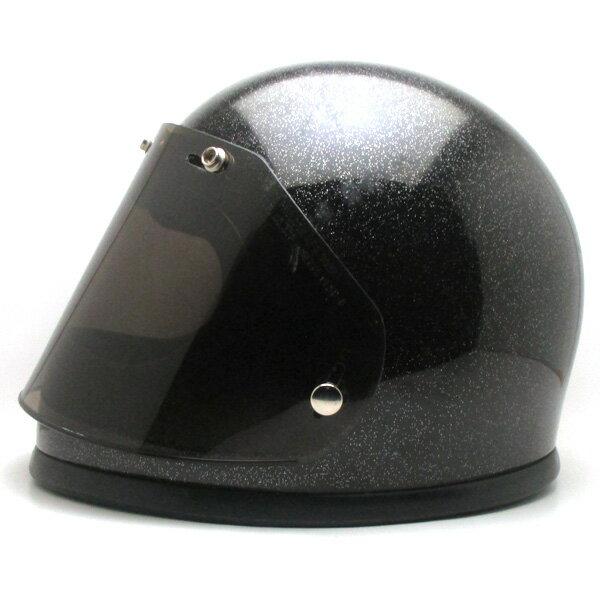 【在庫有 即納】【送料無料】FULLFACE METALFLAKE BLACK 58cm フルフェイスヘルメット族ヘルオンロードブラック黒色ラメメタルフレークMサイズ
