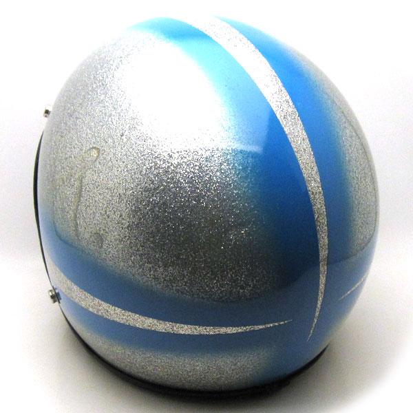 【在庫有 即納】【送料無料】Dead Stock SAFETECH SPIKE SILVER × LIGHT BLUE 59cm ビンテージスモールジェットヘルメットオープンフェイスbellベルbucoブコshmタチバナ立花