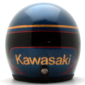 KAWASAKI NAVY METALLIC 57cm スモールジェットヘルメットオープンフェイスアメリカンカワサキネイビー紺色メタリックS〜Mサイズ