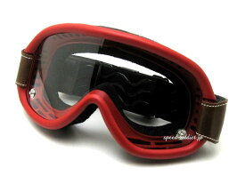 baruffaldi SPEED 4 GOGGLE(バルファルディスピード4ゴーグル)RED 赤レッドジェットヘルメットフルフェイスヘルメットuvカット眼鏡の上からメガネの上から眼鏡対応メガネ対応vmxモトクロスオフロードバイク用オフ車オーバーグラス70s