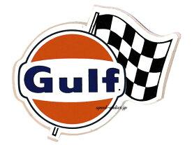 60's VINTAGE GULF Sticker RALLY FLAG(60sビンテージGULFステッカーラリーフラッグ)70mm×80mm nascarナスカーindy 500インディ500indy carインディカー ヘルメットステッカーデカール60s70s
