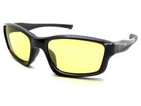 POLARIZED SPORT RUBBER TEMPLE SUNGLASS(偏光スポーツラバーテンプルサングラス)BLACK × 偏光YELLOW ブラック黒イエロー黄色偏光レンズバイカーシェードbikershadeゴムフィットワイドアウトドア釣りマラソン