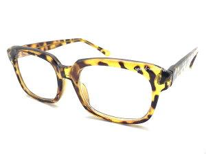 CLASSIC OLD SQUARE SUNGLASS(クラシックオールドスクエアサングラス)YELLOWべっ甲 × CLEAR イエロー黄色べっ甲鼈甲クリアレンズ伊達眼鏡だてメガネめがね定番トレンド流行uvカット紫外線対策アイ