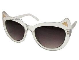 CAT SUNGLASS(猫耳ネコミミサングラス)CLEAR × SMOKE HALF 伊達メガネ伊達眼鏡伊達めがねダテメガネだてめがね猫耳サングラスねこみみサングラスニャングラスパーティーコスプレクリアフレームスモークレンズ