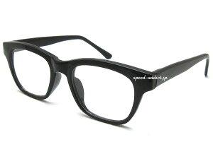 FLAT LENS WELLINGTON SUNGLASS(フラットレンズウェリントンサングラス)BLACK × CLEAR 黒縁黒ぶちフレーム伊達メガネ伊達眼鏡伊達めがねダテメガネだてめがね定番トレンド流行uvカット紫外線カット