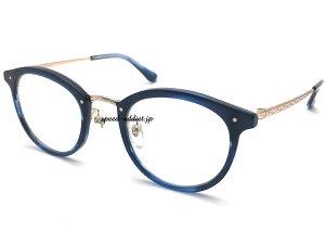 鯖江企画 BACK RIM BOSTON SUNGLASS(バックリムボストンサングラス)NAVY × CLEAR ネイビー紺色細い伊達眼鏡だてめがねダテメガネだてハンドメイド男女兼用メンズレディースアイウェアuvカットク