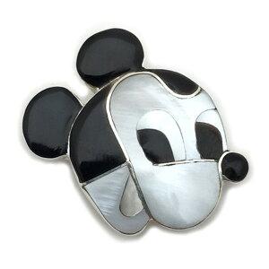 Paula Leekity Brooch Pendant top Mickey Mouse(ポーラ リーキティ ブローチ・ペンダントトップ ミッキーマウス) indian jewelryネックレス首飾りニードルピン銀フェイス顔ウォルトディズニーwaltdisneyclassi