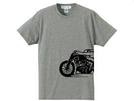 スピードアディクト サイドプリント T-shirt(SPEED ADDICTサイドプリントTシャツ)GRAY 半袖世界最速のインディアンドラッグレースindianmotocycleインディアンモトサイクル英車英国車スティーブマックイーン古着