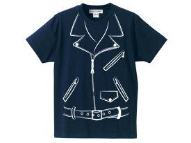 だまし絵 W RIDERS T-shirt(騙し絵トロンプルイユ(trompe-l'oei)WライダースTシャツ)NAVY ネイビーw riders jacketsjkt本革ジャン皮schottショットvansonバンソンlewis leathersルイスレザーワンスター613usa61864122834363840424446