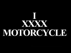 I XXXX MOTORCYCLE T-shirt(I XXXXモーターサイクルTシャツ)BLACK 黒半袖バイカーファッションバイクウェアカフェレーサーmodsモッズvespaヴェスパtriumphトライアンフnortonノートン英車英国車国産車アメカジ古着