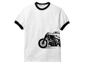 スピードアディクト サイドプリント Ringer T-shirt(SPEED ADDICT サイドプリントリンガーTシャツ)trimトリムteevincent black shadowヴィンセントブラックシャドウ旧車サニトラハコスカトライアンフノートンhondakawasakiyamahasuzuki