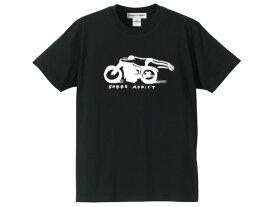 SPEED ADDICT 手書き風 T-shirt(スピードアディクトHANDWRITTINGTシャツ)BLACK 黒ブラック手書き風イラスト世界最速のインディアンモトサイクルindian motocycleボンネビルソルトフラッツドラッグレースnascarマン島ttレースmotogp古着