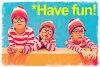 국경의 롱 T & 안경 및 모자 세트 코스 프레 니트 캡 의상 안경 안경 니트 모자 할로윈 월리를 찾아라 월리를 さがせ 의상 이벤트 긴 소매 T 셔츠