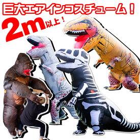 恐竜 着ぐるみ コスチューム 仮装 なりきり コスプレ 特大エアインコスチューム インフレータブル パーティーに! 衣装 ゴリラ
