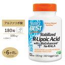 Rリポ酸 100mg 180粒 ベストサプリメント/サプリ/αリポ酸/R-リポ酸/ビオチン/ベジタブルカプセル/お徳用/Doctor's Be…