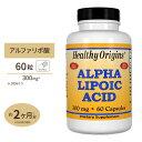 アルファリポ酸(αリポ酸) 300mg 60粒サプリメント/サプリ/αリポ酸/カプセル/高含有/Healthy Origins/ヘルシーオリ…