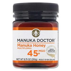 マヌカハニー マルチフローラル MGO 45+ 250g Manuka Honey Multifloral Manuka Doctor (マヌカドクター)ニュージーランド 蜂蜜 はちみつ ハチミツ 無添加 のど カラオケ 【ポイントUP対象★7月3日18:00-13日13:5