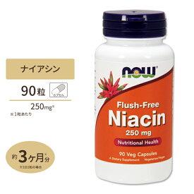 フラッシュフリーナイアシン 250mg 90粒 NOW Foods(ナウフーズ)