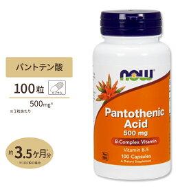 パントテン酸 500mg 100粒 NOW Foods(ナウフーズ)