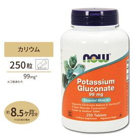 カリウム 99mg 250粒 NOW Foods(ナウフーズ)