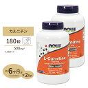 [2個セット]L-カルニチン 500mg 180粒 NOW Foods(ナウフーズ)
