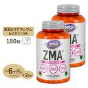 [2個セット]ZMA(亜鉛&マグネシウム&B6) 180粒 NOW Foods(ナウフーズ)