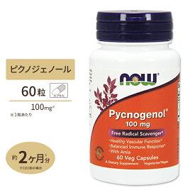 ピクノジェノール(ビタミンC配合) 100mg 60粒 NOW Foods(ナウフーズ)