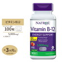 ビタミンB-12【すぐ溶けるチュワブル】5000mcg 100粒(ストロベリー味)サ プリメント サプリ ビタミンB12 now ナウ【…
