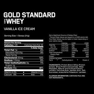 ゴールドスタンダードホエイプロテインバニラアイスクリーム味2.27kg