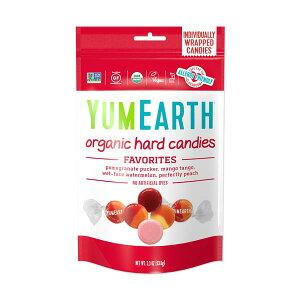 YumEarth オーガニックハードキャンディー フルーツ 3.3 oz (93.5 g)個包装 ヤムアース オーガニック ナッツフリー グルテンフリー