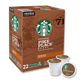 [NEW] キューリグ Kカップ パイクプレイスコーヒー 22個入り 各0.44oz (約12.5g) Starbucks (スターバックス)