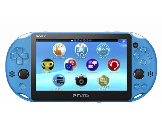 【新品】【即納】PlayStation Vita Wi-Fiモデル アクア・ブルー(PCH-2000ZA23) 本体 ソニー
