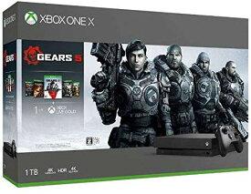 【新品】【即納】Xbox One X (Gears 5、Gears of War 1,2,3,4 ダウンロード版 同梱) 【定価43,978円】