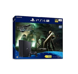 【新品】【即納】PlayStation 4 Pro FINAL FANTASY VII REMAKE Pack(HDD:1TB) ファイナルファンタジー7 PS4