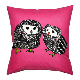IKEA ■ Cushion cover OWL OWL GULORT pink