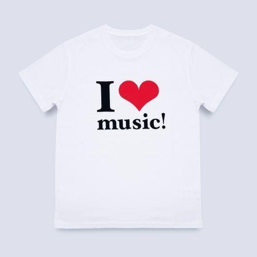 【新品】【即納】WE ハート(LOVE)NAMIE HANABI SHOW(安室奈美恵)/I ハート(LOVE)music!Tシャツ WHITE Lサイズ