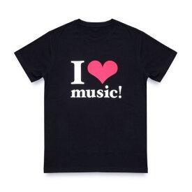 【新品】【即納】WE ハート(LOVE)NAMIE HANABI SHOW(安室奈美恵)/ I ハート(LOVE)music!Tシャツ BLACK Lサイズ
