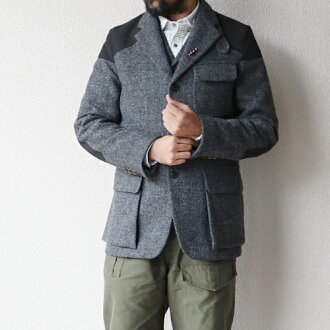 c183f1c296e2 NIGEL CABOURN MALLORY JACKET HARRIS TWEED × VENTILE GRAY AUTHENTIC LINE