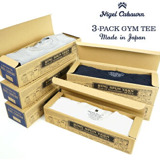 NIGEL CABOURN奈杰爾·K波恩3-PACK GYM TEE 3 COLORS MAIN LINE 3包T恤