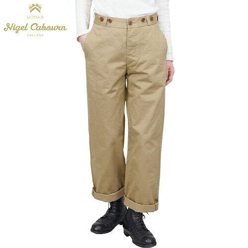 NIGEL CABOURN WOMAN ナイジェル・ケーボン ウーマン BASIC MILITARY CHINO PANT BEIGE MAIN LINE