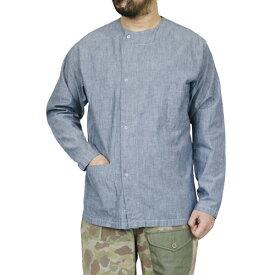 NIGEL CABOURN × LYBRO ナイジェル・ケーボン × ライブロ PRISONER SHIRT COTTON CHAMBRAY BLUE